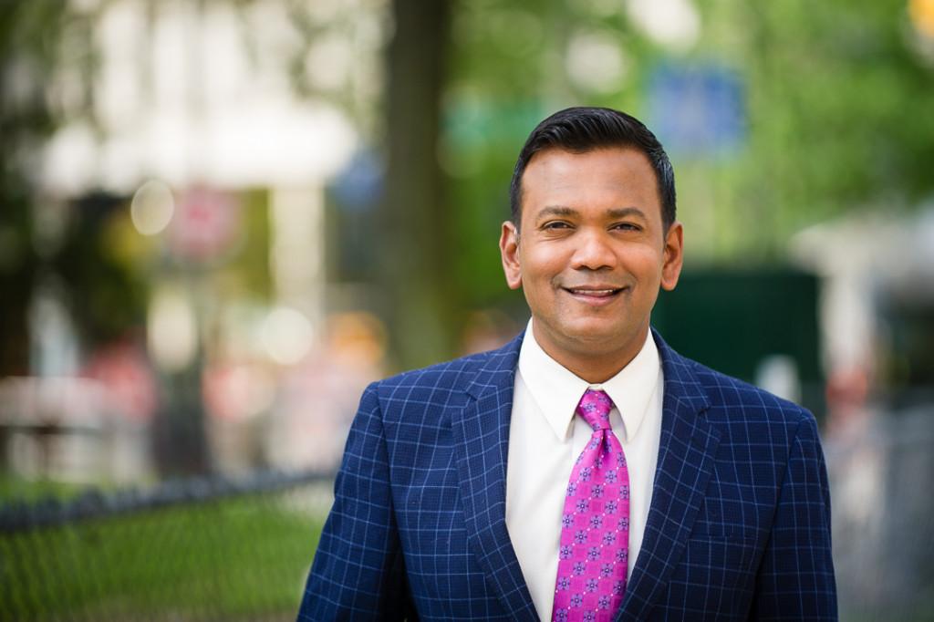 Portrait of Roop Raj of Fox 2 News - Detroit Portraiture