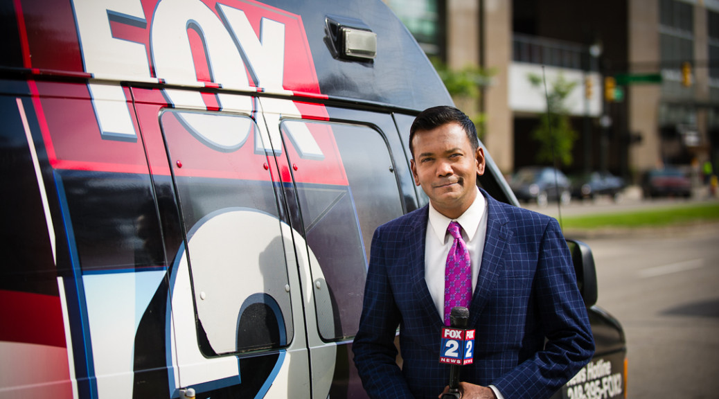 Portrait of roop raj fox 2 news anchor - detroit portraits