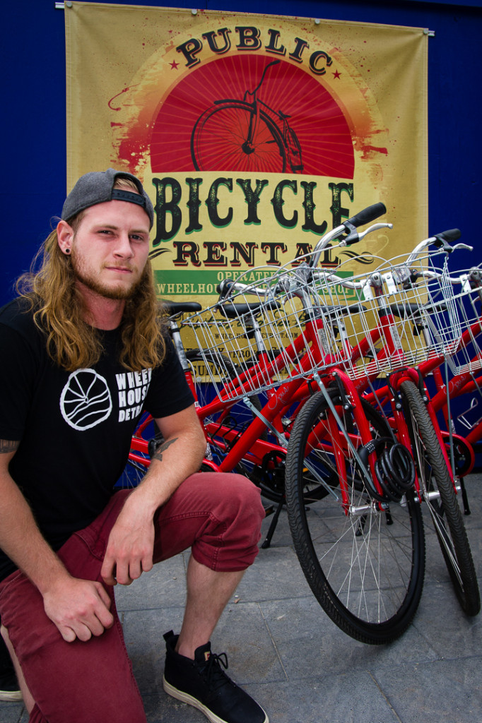 Portrait of bike rentals in Detroit Portraits