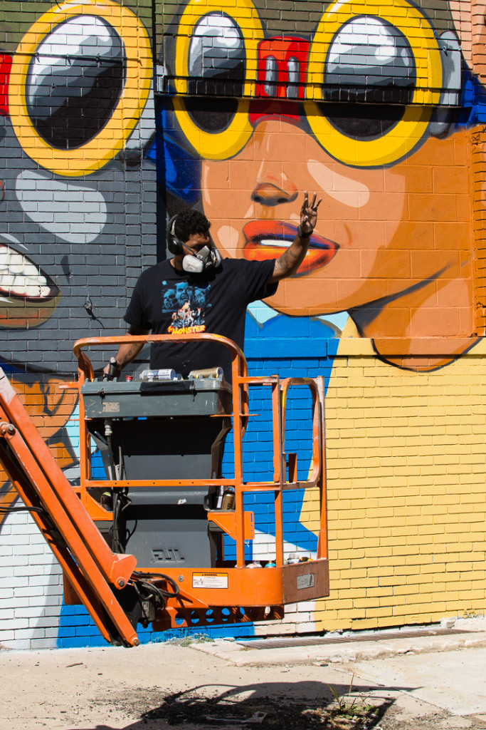 Hebru Brantley creates beautiful Detroit Murals
